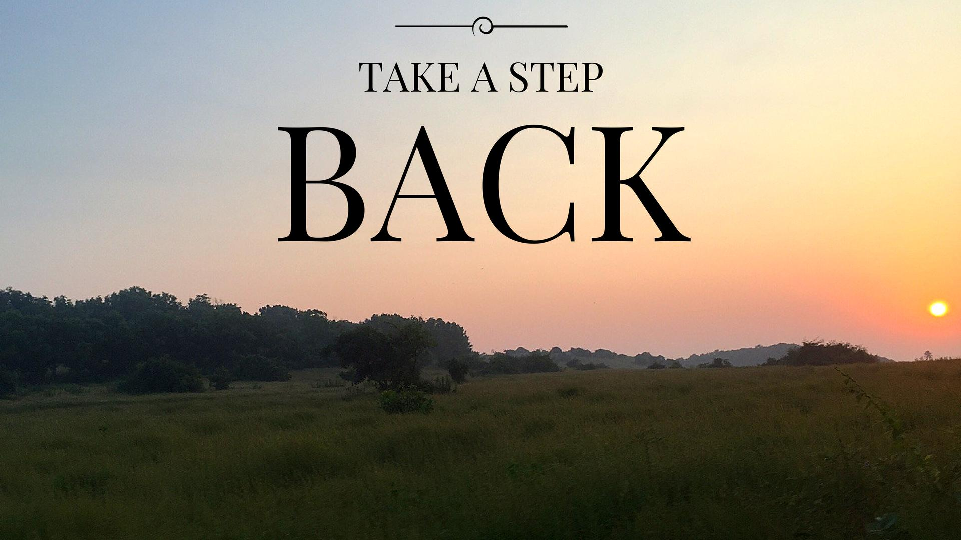 Take A Step Back – Finding The Purpose
